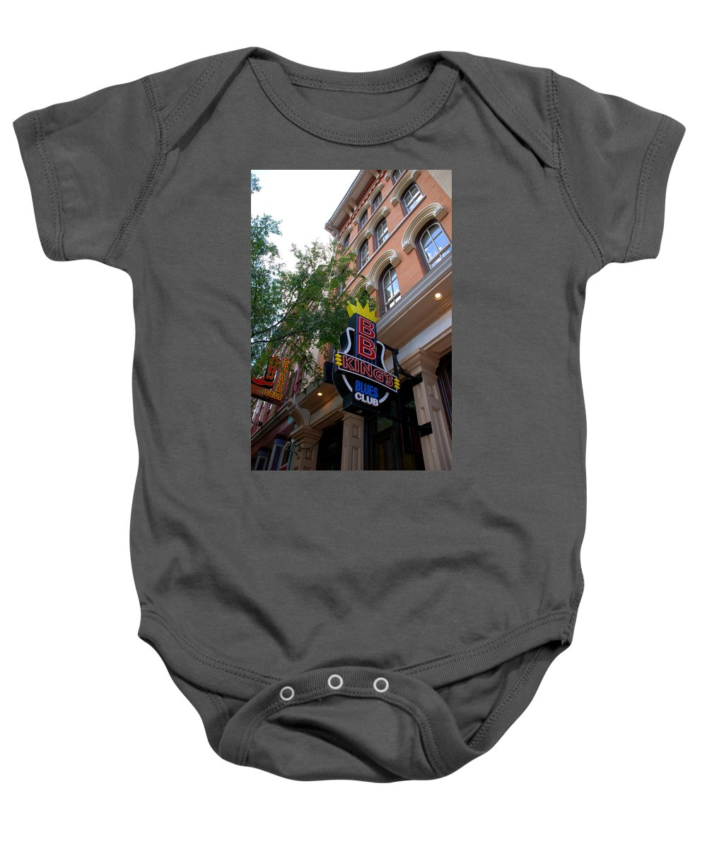 Bb King Baby Onesie featuring the photograph Bb King Bar Nashville by Susanne Van Hulst