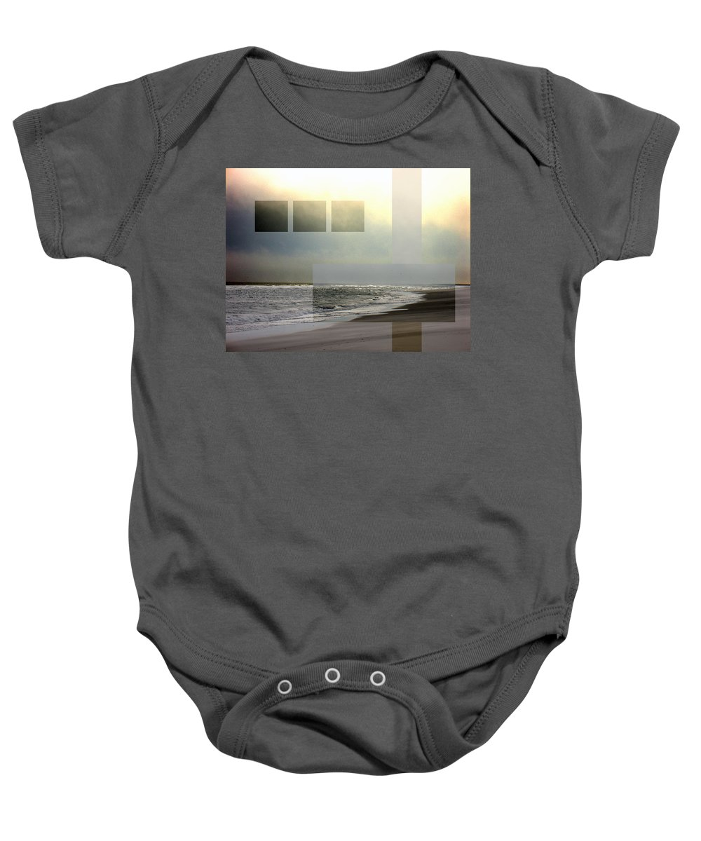 Beach Baby Onesie featuring the photograph Beach Collage 2 by Steve Karol