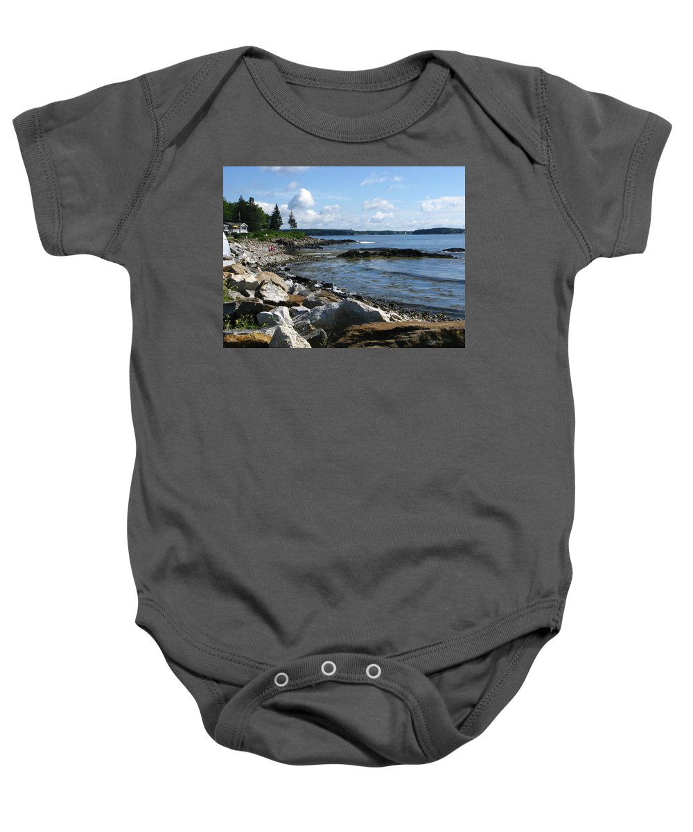 Sea Baby Onesie featuring the photograph Beach Combers by Bill Tomsa