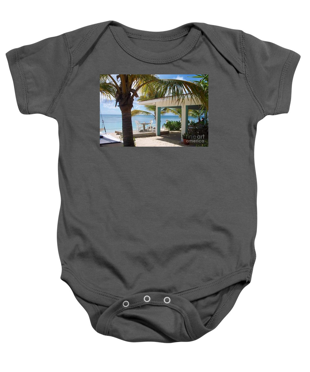 Beach Baby Onesie featuring the photograph Beach In Grand Turk by Debbi Granruth