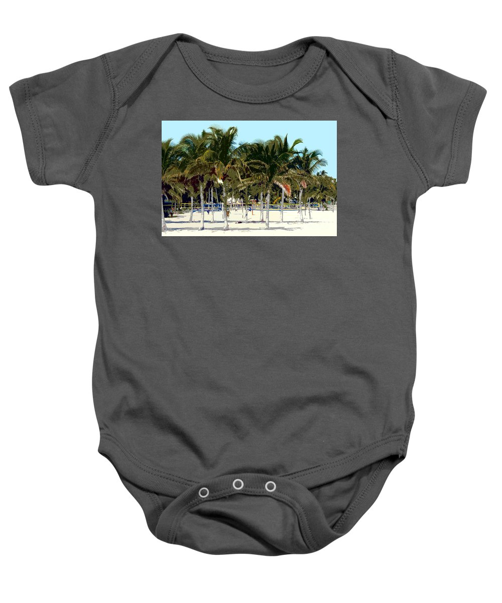 Beach Baby Onesie featuring the photograph Beach Volleyball by David Lee Thompson