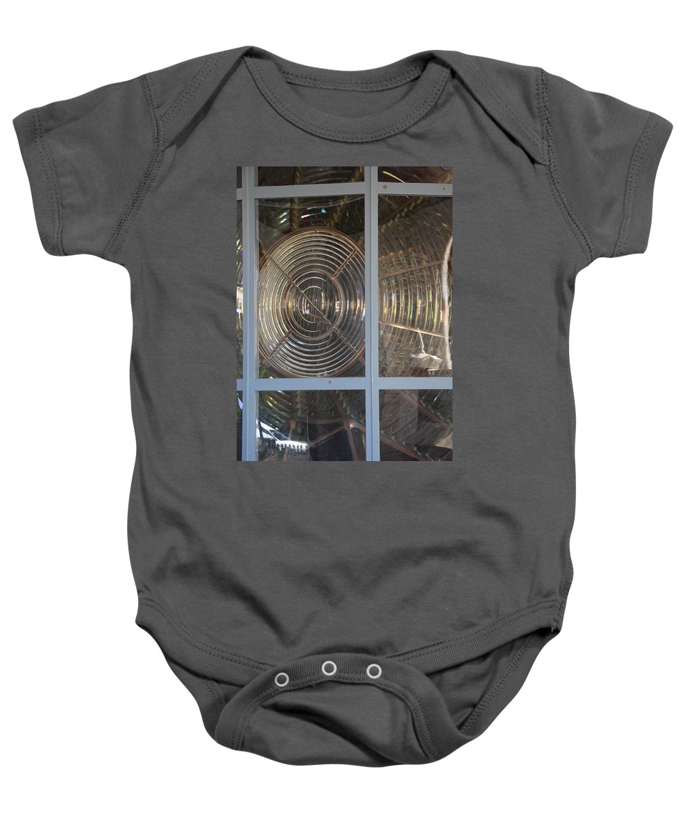 Lighthouse Beacon Baby Onesie featuring the photograph Beacon Lens by Christiane Schulze Art And Photography