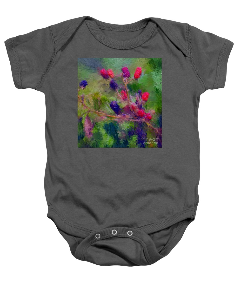 Nature Baby Onesie featuring the photograph Bear Fodder by David Lane