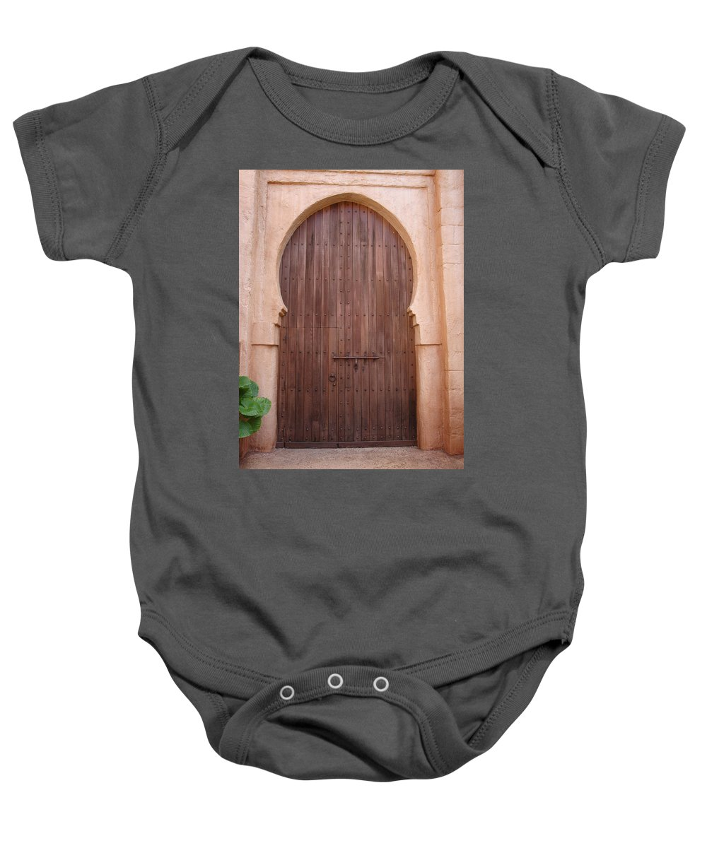 Arch Baby Onesie featuring the photograph Beautiful Arched Doors by Kim Chernecky