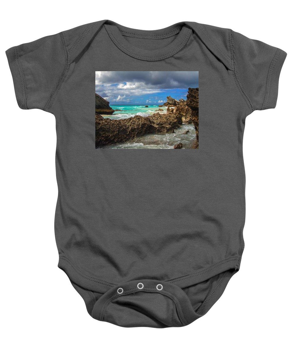 Atlantic Baby Onesie featuring the photograph Beautiful Bermuda by Lori Coleman