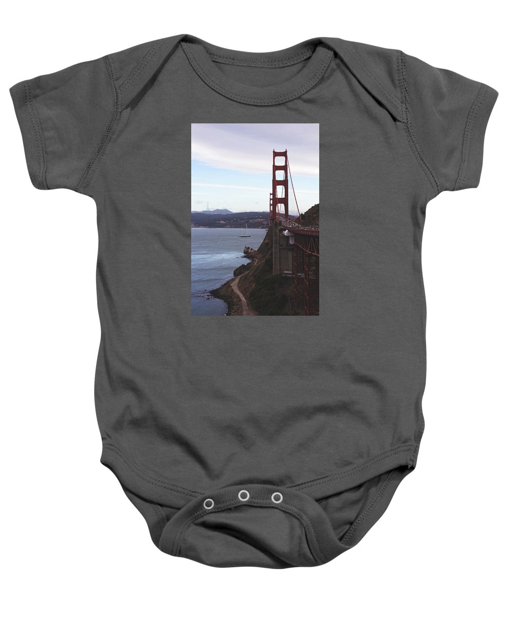 Bridge Baby Onesie featuring the photograph Beautiful Morning by Jose Cadenas