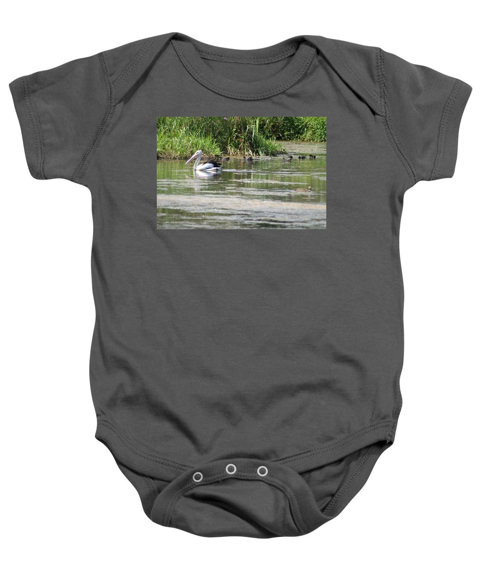 Pelican Baby Onesie featuring the photograph Beautiful Pelican by Brian Leverton