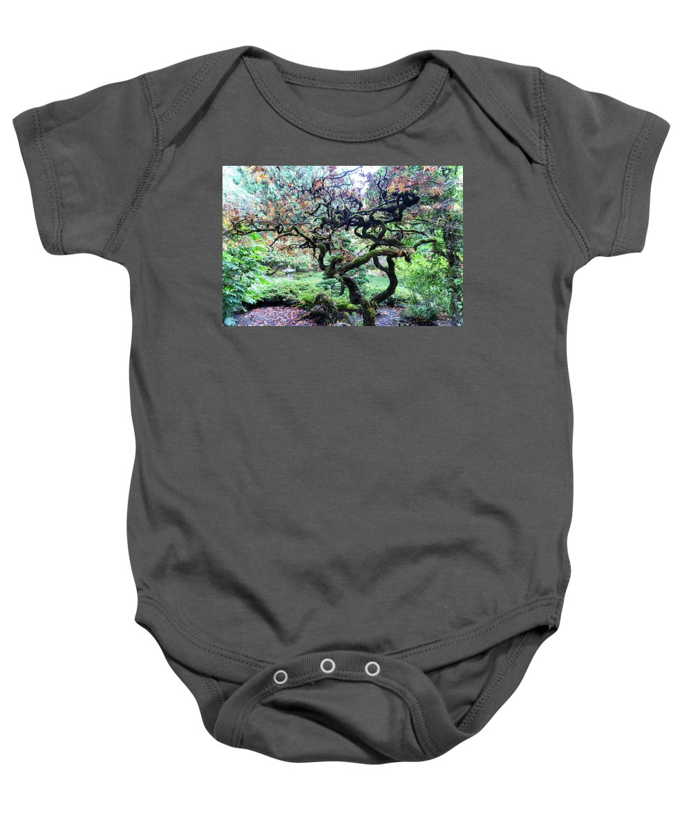 Outdoor Baby Onesie featuring the photograph Beautiful Japanese Garden,butchart Gardens,victoria,canada 2. by Andrew Kim