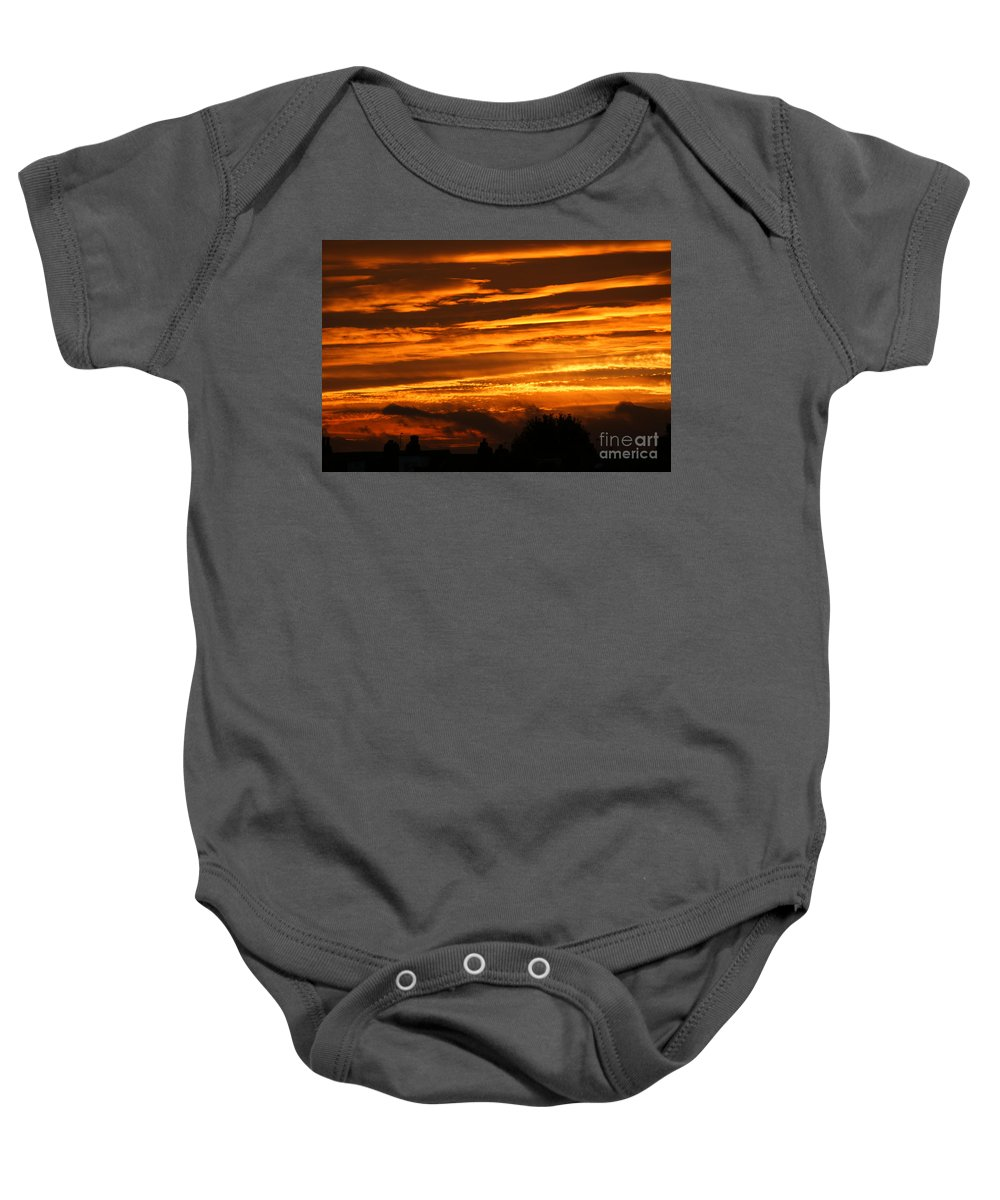 Sunset Baby Onesie featuring the photograph Beautiful Sunset by Carol Lynch
