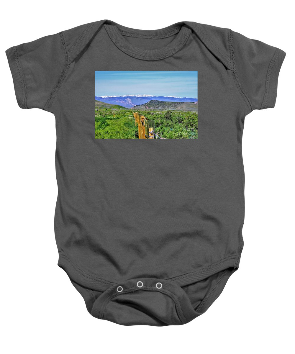 Rural Landscape Baby Onesie featuring the photograph Beautiful Wyoming by Merle Grenz