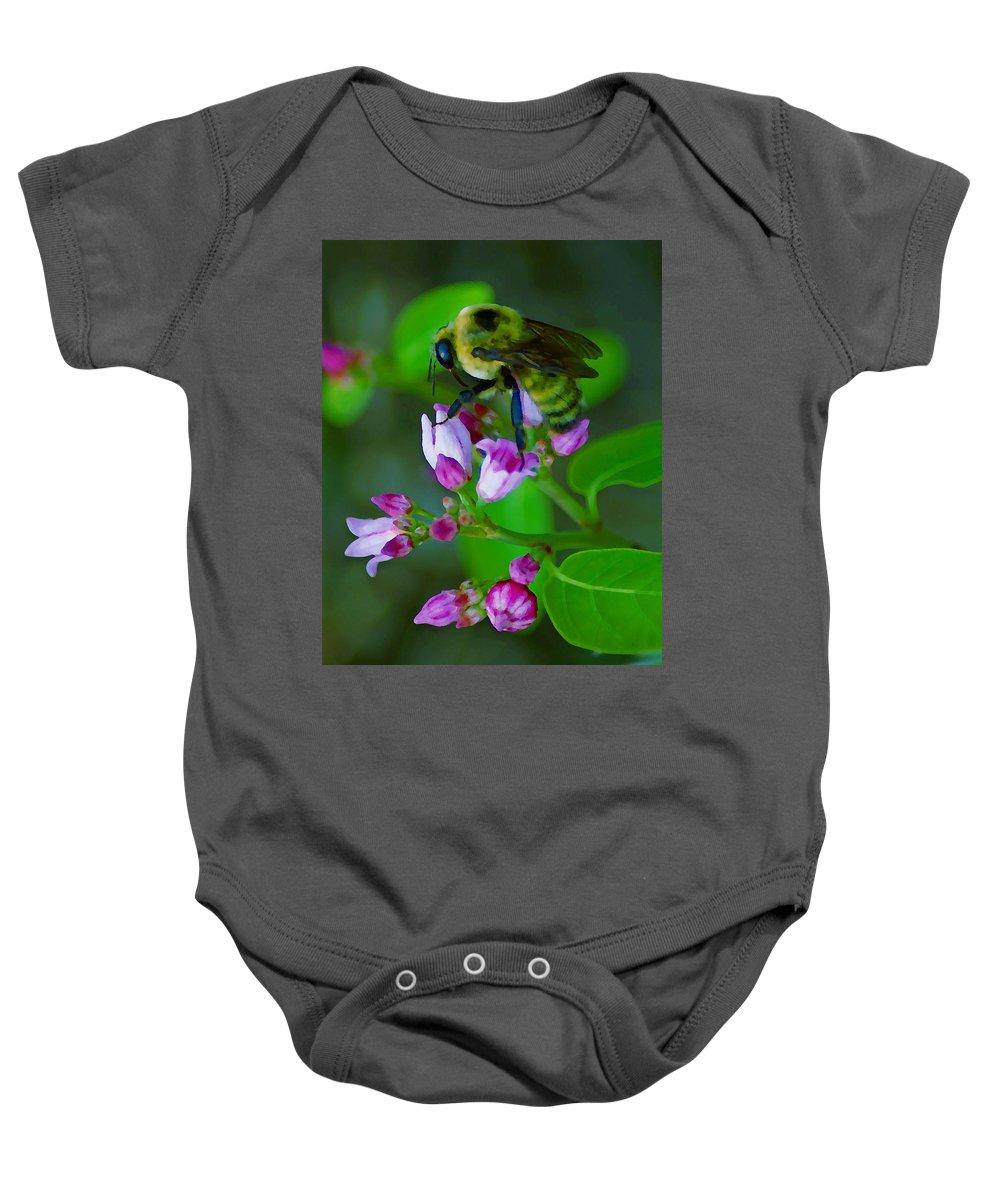 Photo Art Baby Onesie featuring the photograph Bee Good 2 by Ben Upham III