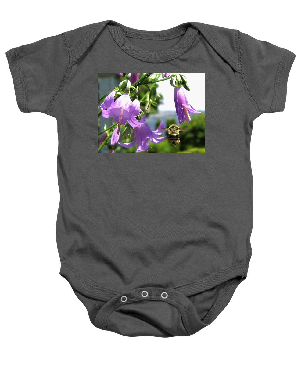 Bee Baby Onesie featuring the photograph Bee-line 5 by Will Borden