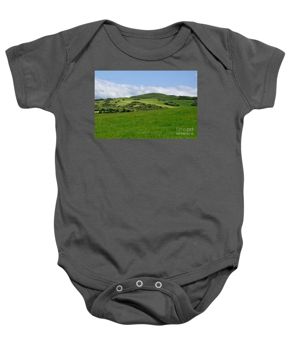 Beecraigs Baby Onesie featuring the photograph Beecraigs Hills. by Elena Perelman