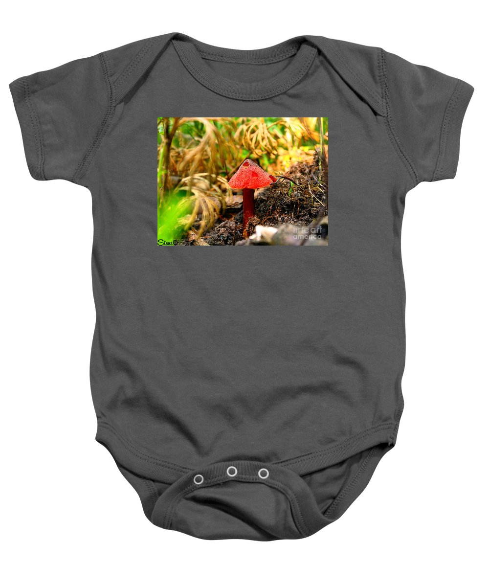Mushroom Baby Onesie featuring the photograph Before The Trip by September Stone