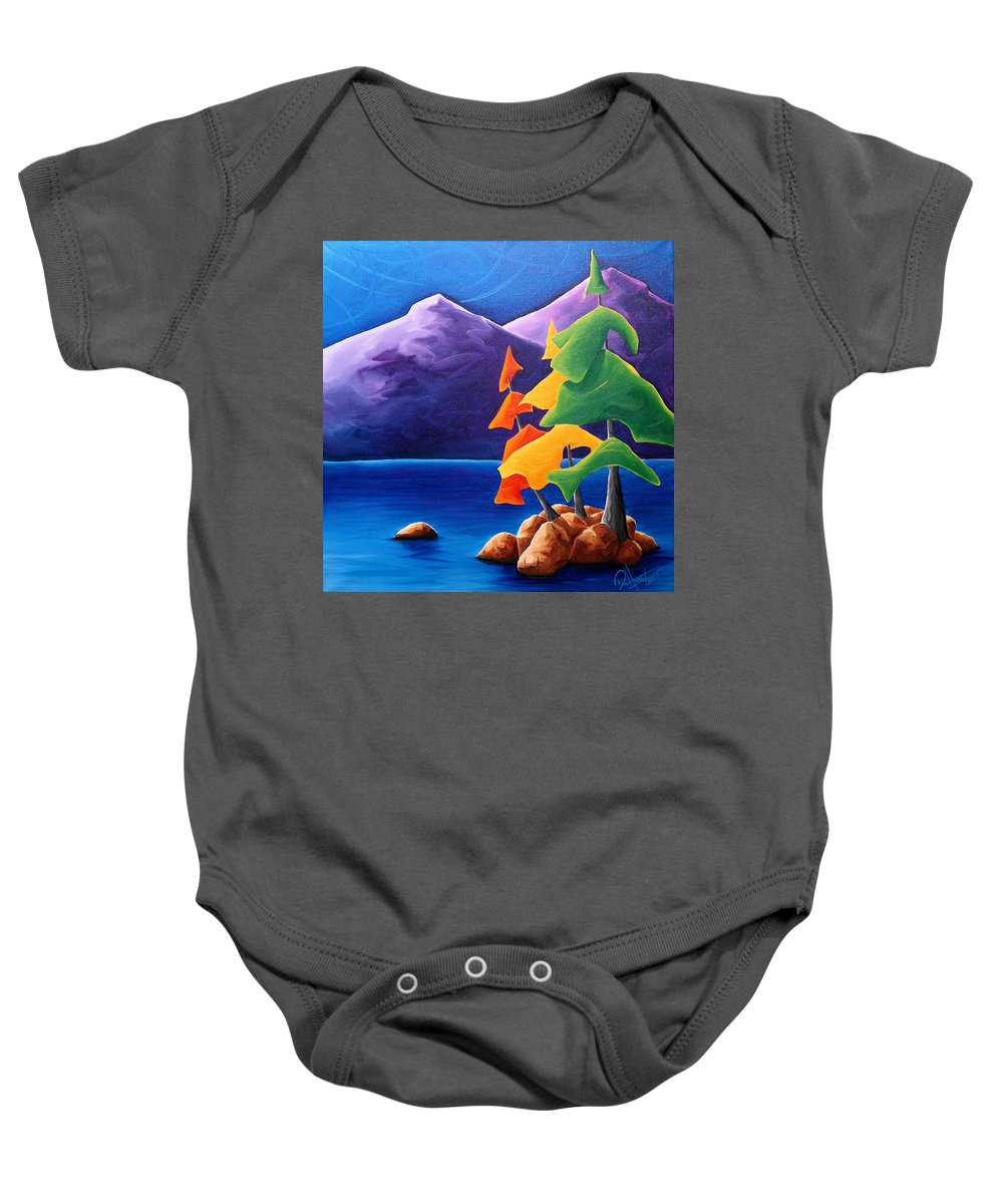 Landscape Baby Onesie featuring the painting Being Thankful by Richard Hoedl