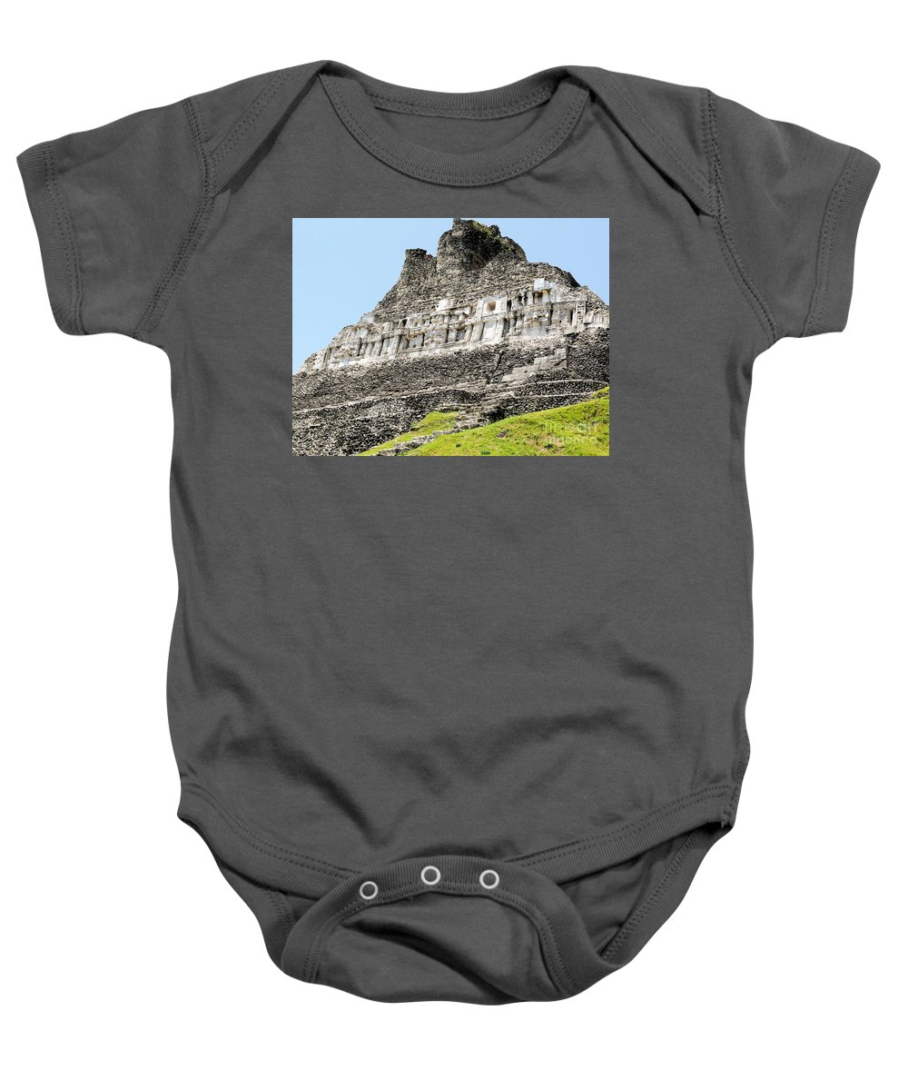 Mayan Baby Onesie featuring the photograph Belize Mayan Ruins by Katherine W Morse
