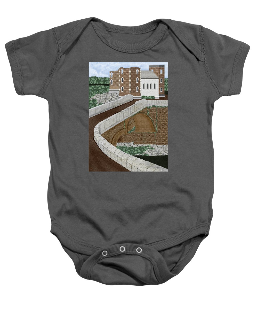 Castle Ruins Baby Onesie featuring the painting Beloved Ruins by Anne Norskog