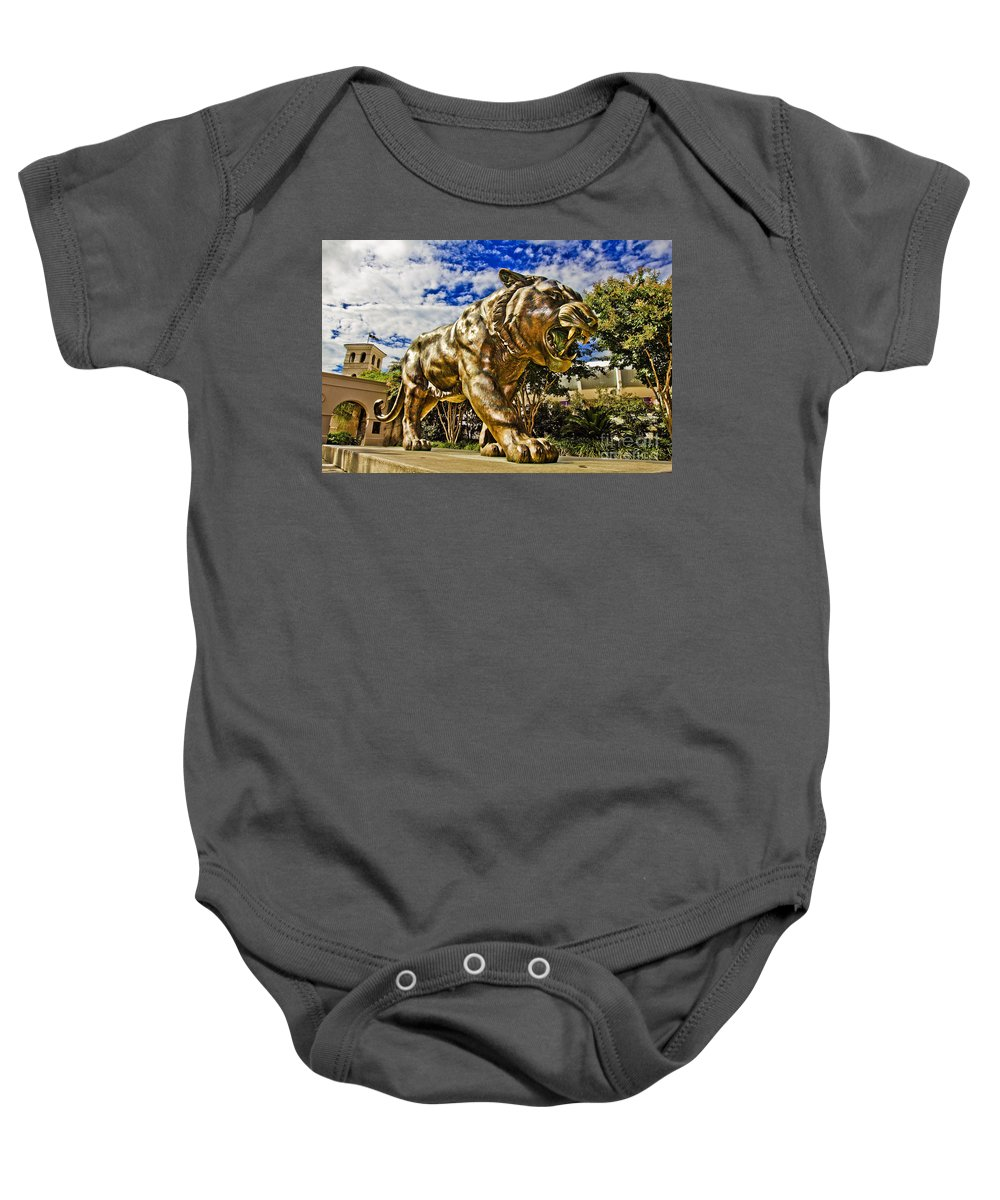 Mike The Tiger Baby Onesie featuring the photograph Big Mike by Scott Pellegrin