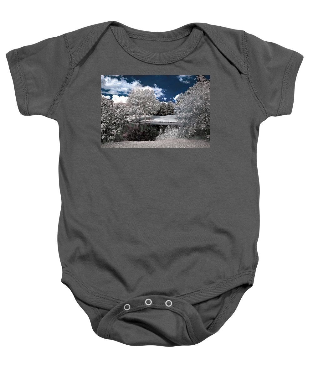Landscape Baby Onesie featuring the photograph Birch Cluster II by Steve Harrington