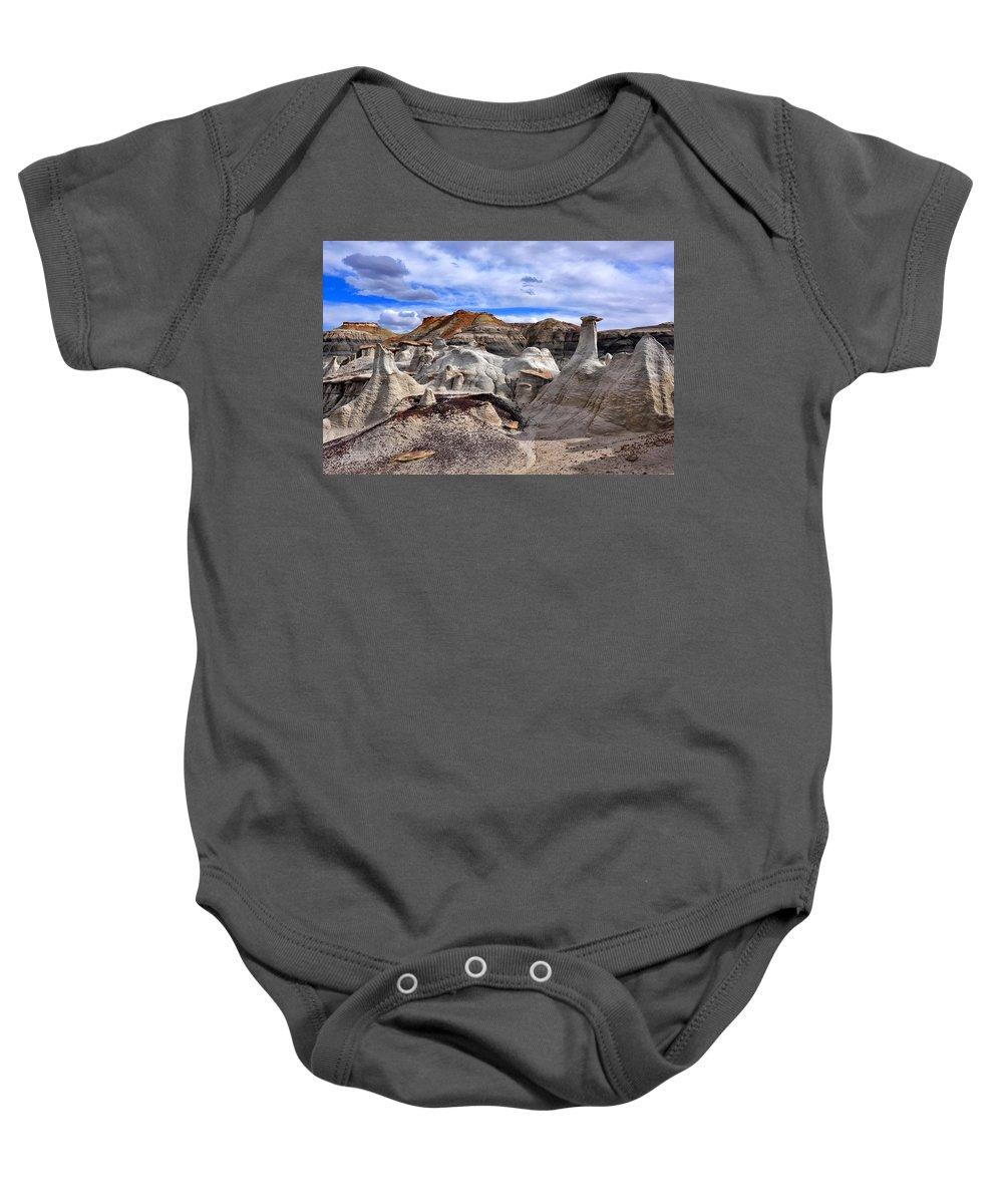 Bisti Badlands Baby Onesie featuring the photograph Bisti Badlands 7 by Ingrid Smith-Johnsen