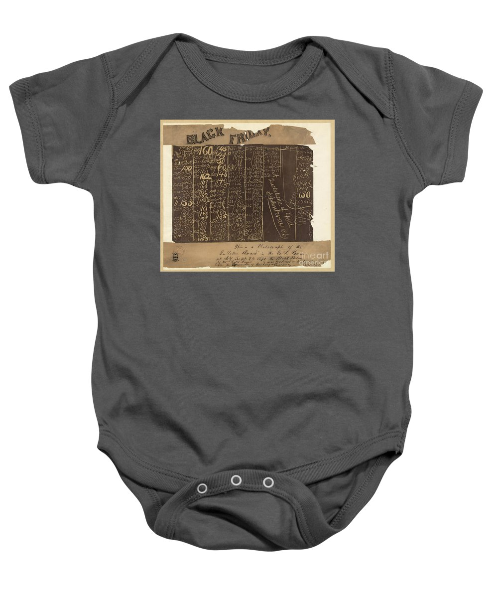 1869 Baby Onesie featuring the photograph Black Friday, 1869 by Granger