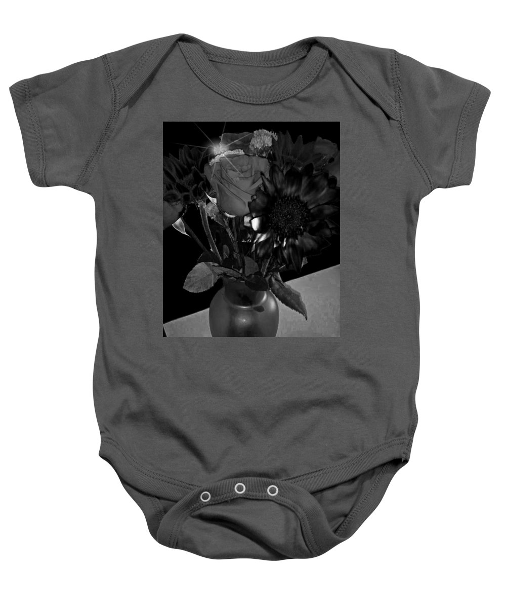 Flowers Baby Onesie featuring the photograph Black Velvet by Cindi Soutter