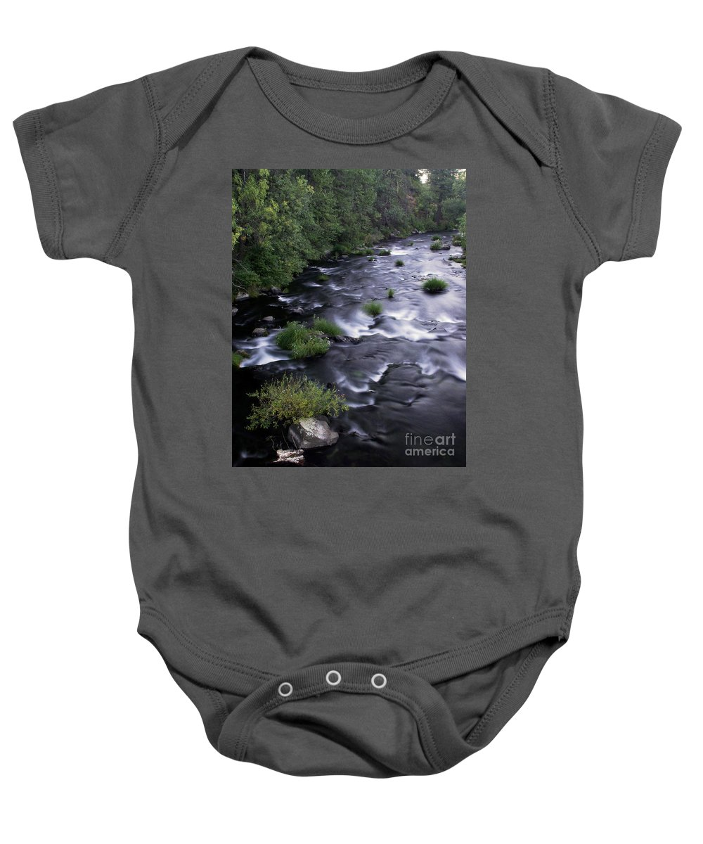 River Baby Onesie featuring the photograph Black Waters by Peter Piatt