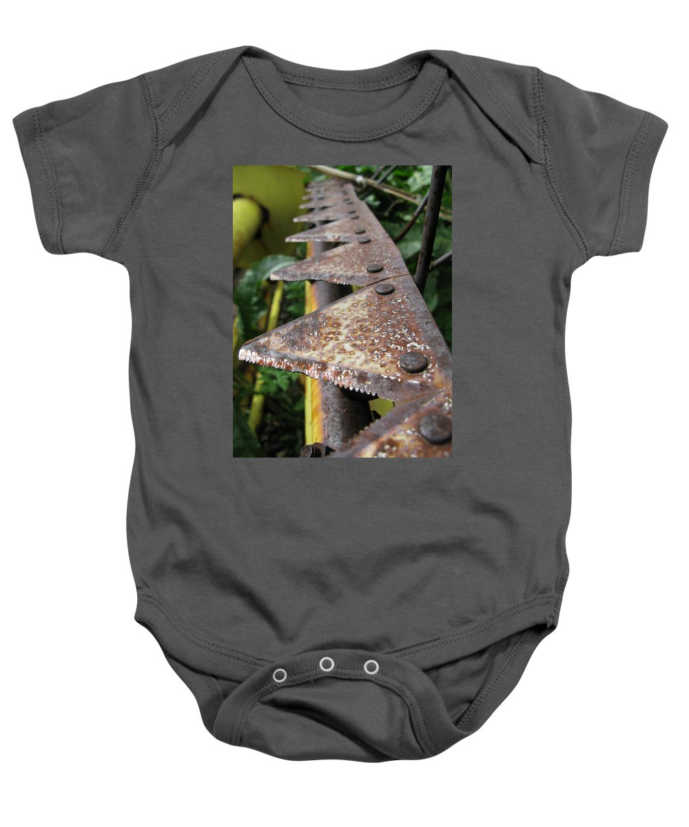 Farm Baby Onesie featuring the photograph Blades Of Production by Jeffery Ball