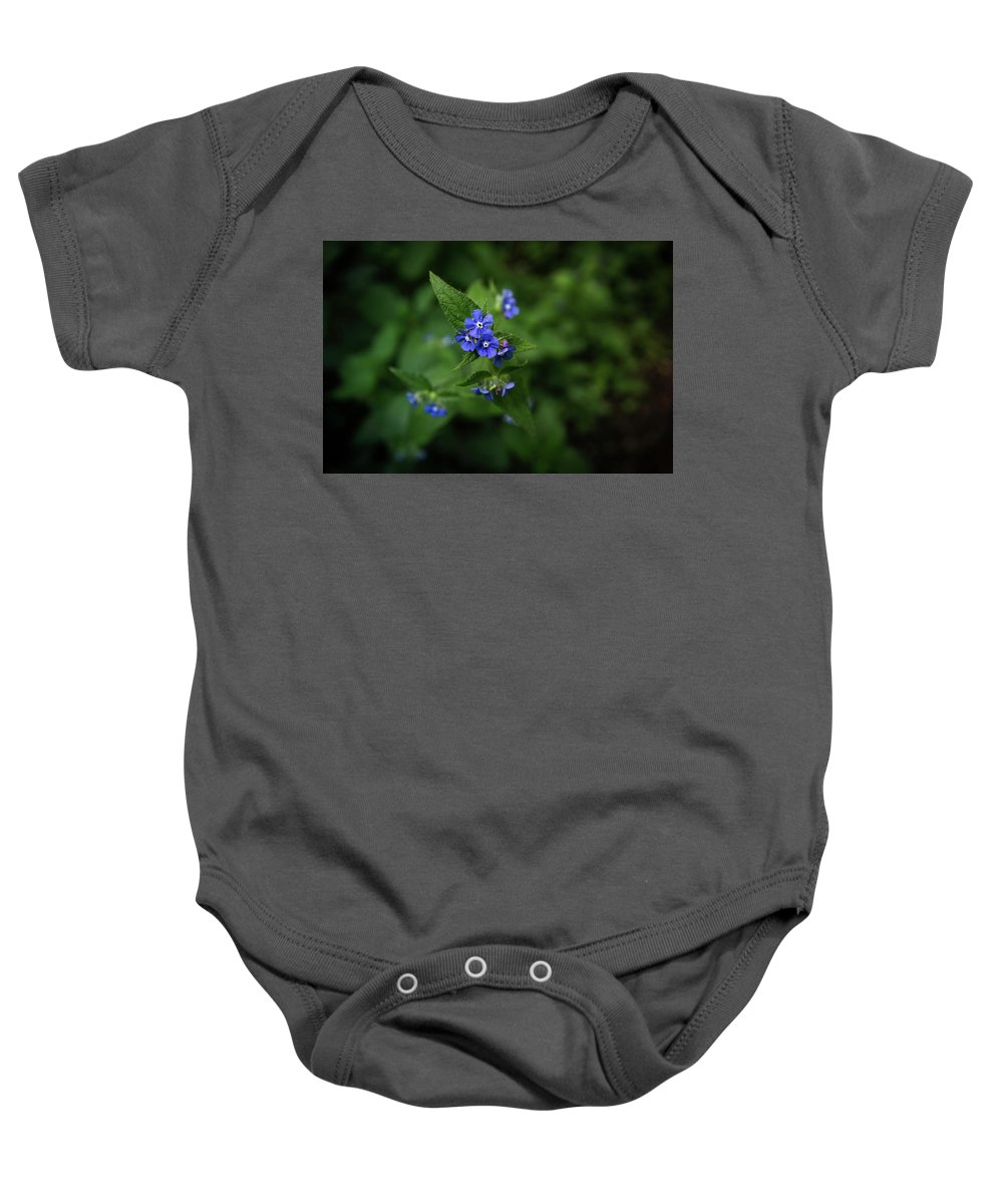 Flower Baby Onesie featuring the photograph Blue Flower In Spring by Matt De Moraes