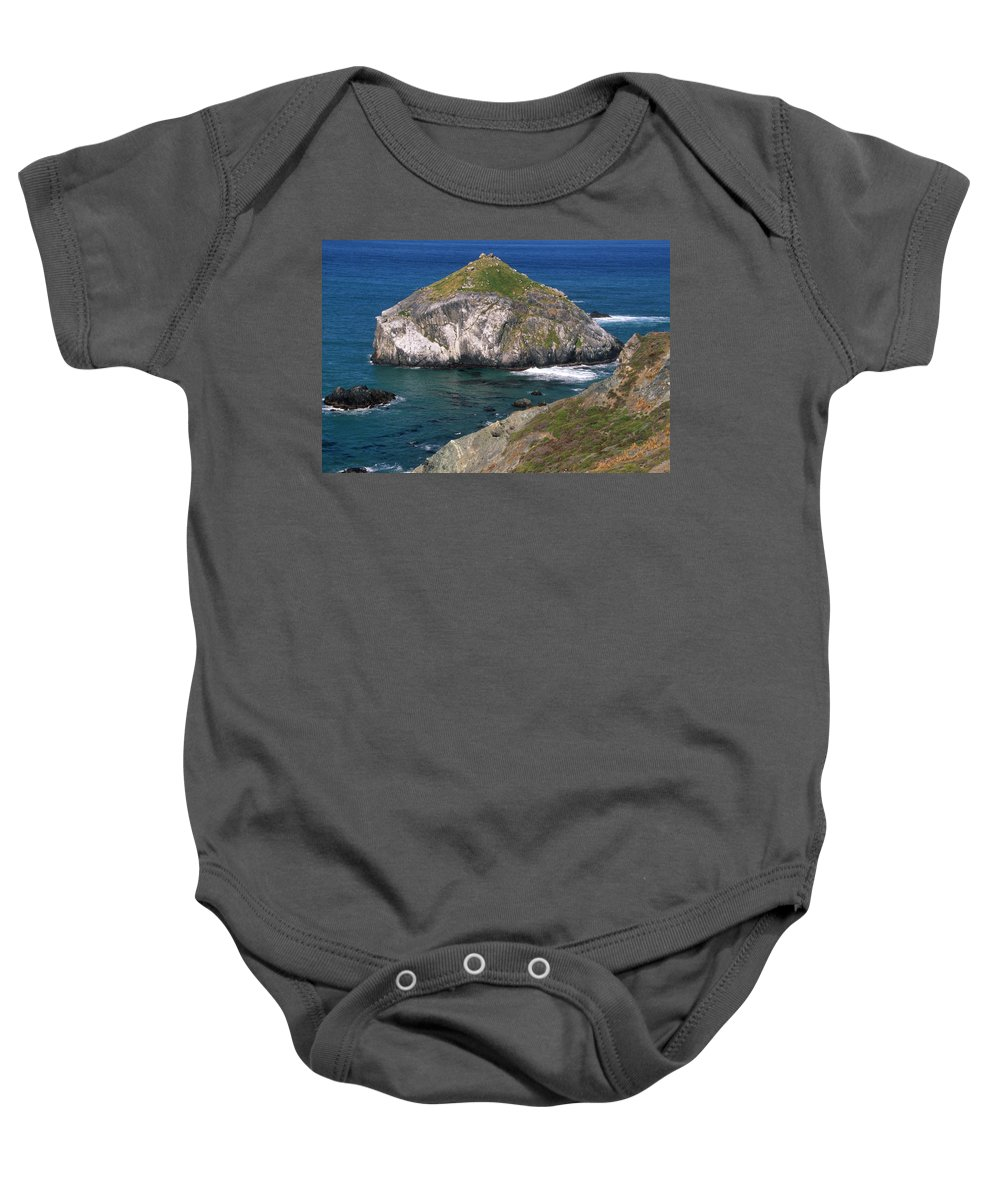 Offshore Rocks Baby Onesie featuring the photograph Blue Green Seas - Highway One by Soli Deo Gloria Wilderness And Wildlife Photography