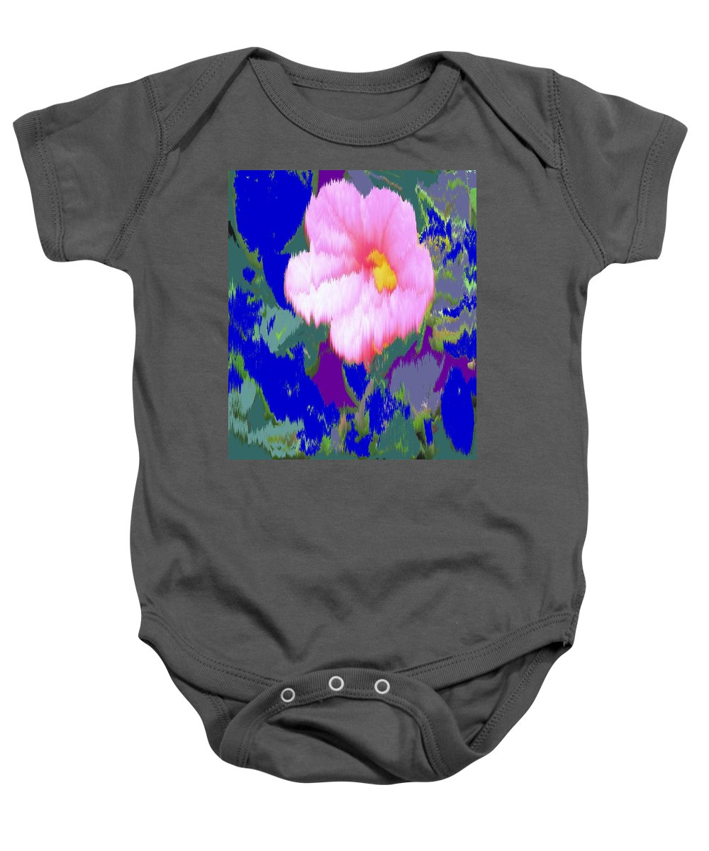 Flower Baby Onesie featuring the photograph Blue Pink by Ian MacDonald