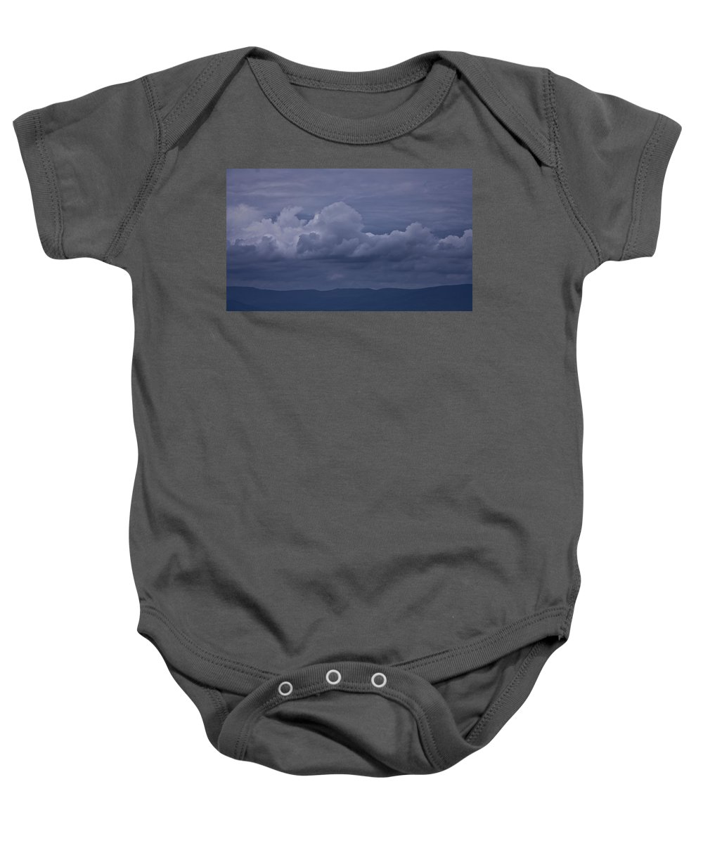 Storm Baby Onesie featuring the photograph Blue Ridge Mountain Storm In Virginia by Teresa Mucha