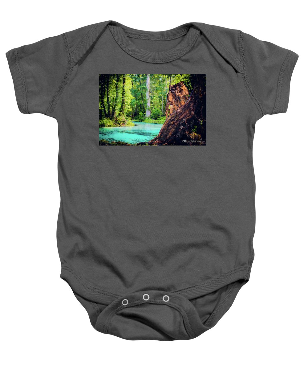 Baby Onesie featuring the photograph Blue Springs by Llilys Benavides