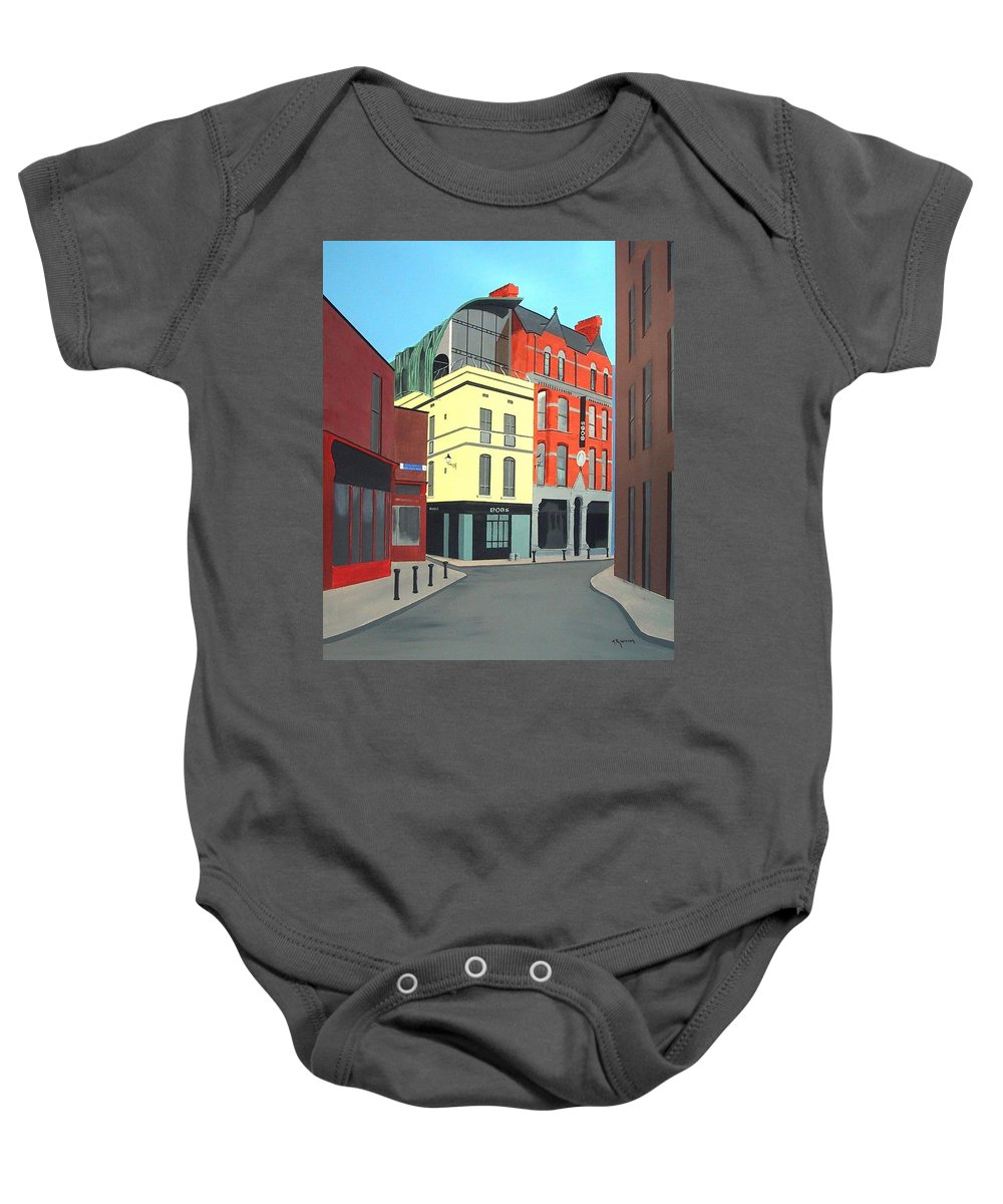 Bad Bobs Baby Onesie featuring the painting Bobs by Tony Gunning