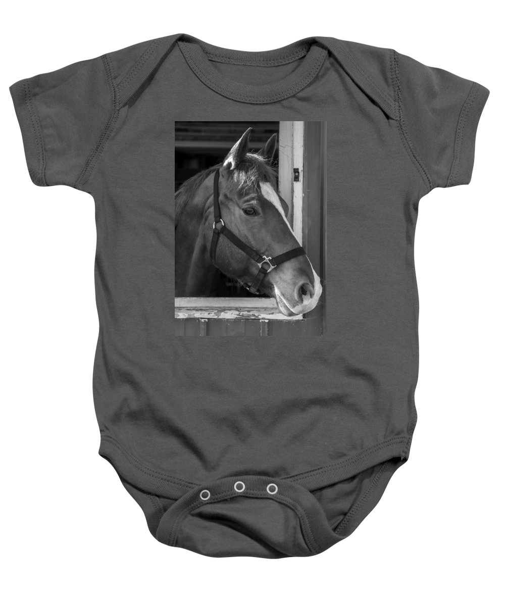Charger Baby Onesie featuring the photograph Bode 15061b by Guy Whiteley
