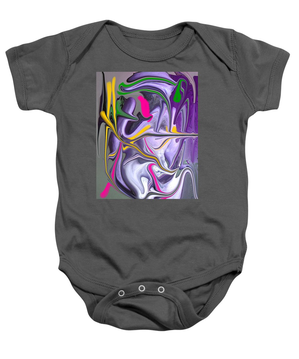 Abstract Baby Onesie featuring the photograph Body Language by Allan Hughes