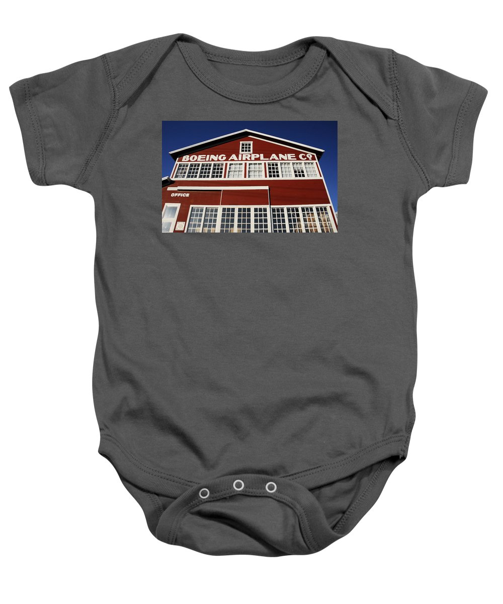 Boeing Baby Onesie featuring the photograph Boeing Airplane Hanger Number One by David Lee Thompson