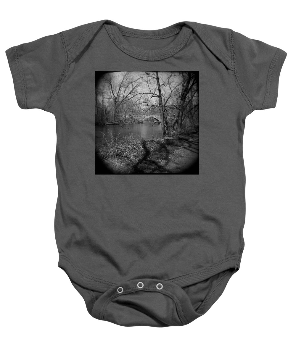 Photograph Baby Onesie featuring the photograph Boiling Springs Stone Bridge by Jean Macaluso
