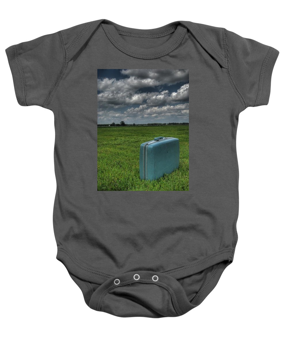 Bon Voyage Baby Onesie featuring the photograph Bon Voyage by Jane Linders