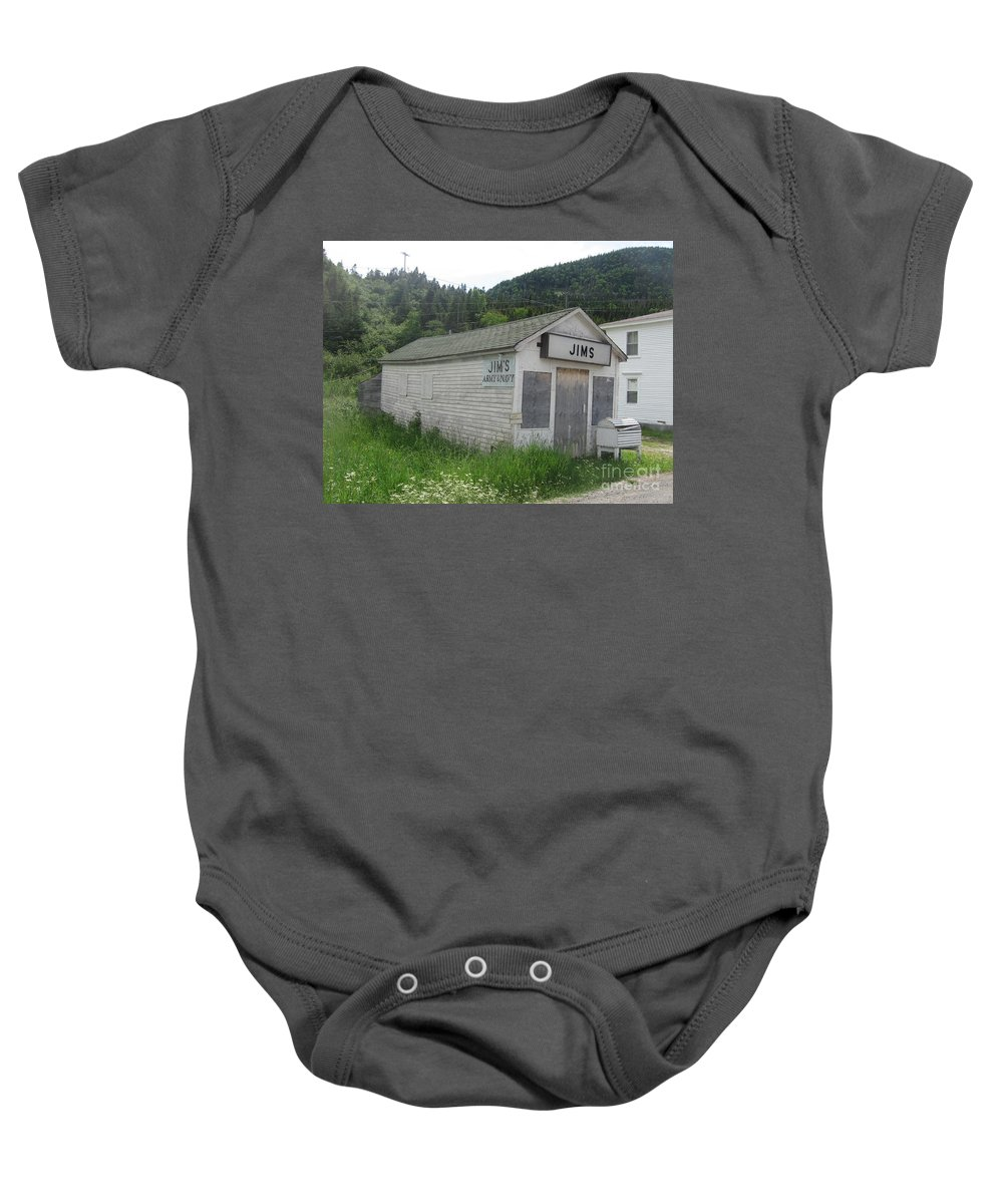 Photograph Bonne Bay Newfoundland Army Navy Store Baby Onesie featuring the photograph Bonne Bay2 by Seon-Jeong Kim