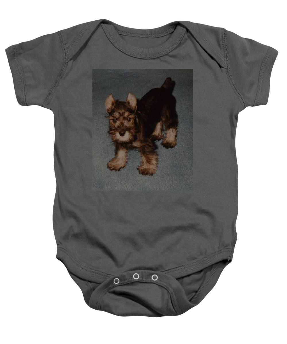 Dog Baby Onesie featuring the photograph Boo Boo by Rob Hans