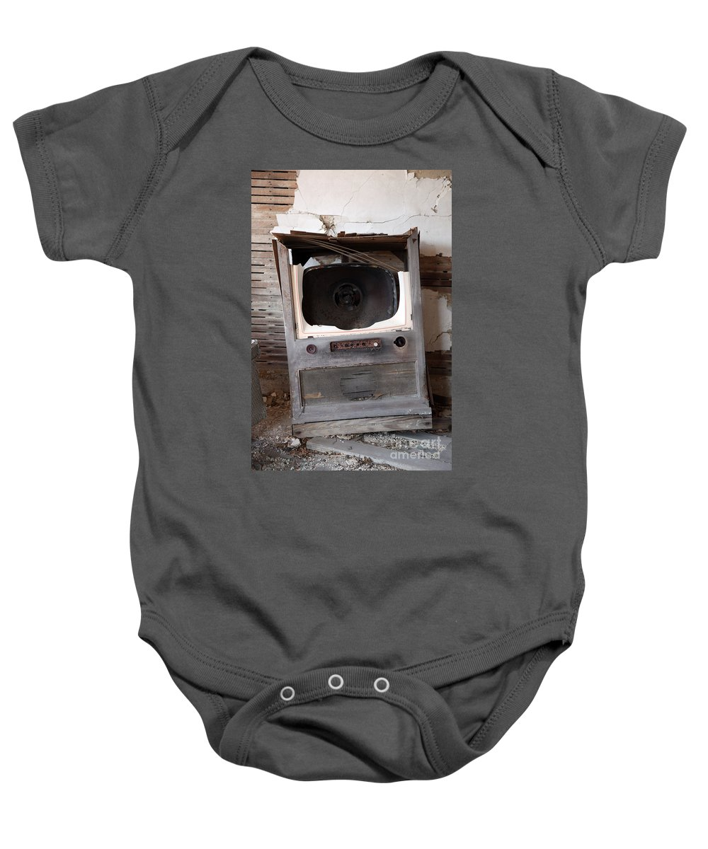 Boobtube Baby Onesie featuring the photograph Boobtube by Amanda Barcon