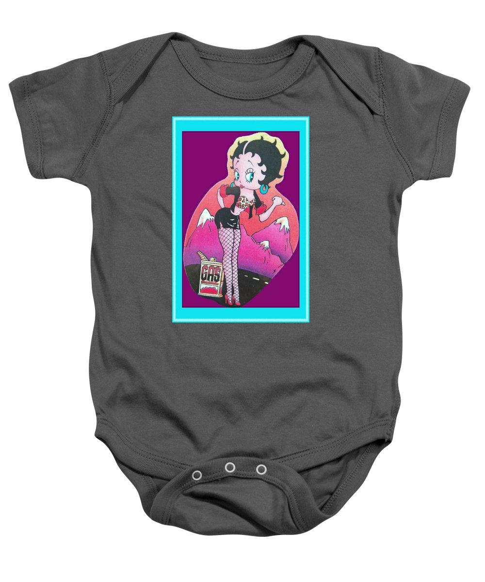 Betty Boop Baby Onesie featuring the digital art Boop Oop A Doop by DigiArt Diaries by Vicky B Fuller