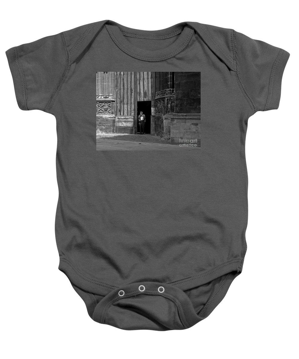Bordeaux Baby Onesie featuring the photograph Bordeaux Church Door by Thomas Marchessault