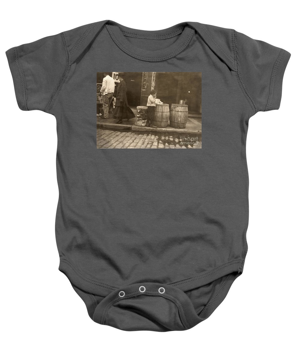 1909 Baby Onesie featuring the photograph Boston: Slums, 1909 by Granger