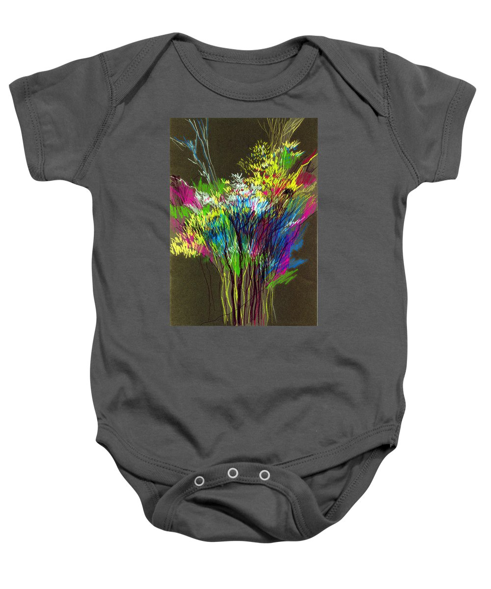 Flowers Baby Onesie featuring the painting Bouquet by Anil Nene