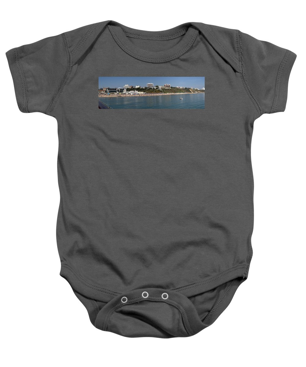 Bournemouth Baby Onesie featuring the photograph Bournemouth Beaches by Chris Day