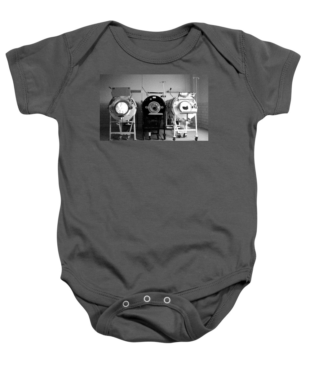 Iron Lungs Baby Onesie featuring the photograph Breathe by Conor McLaughlin