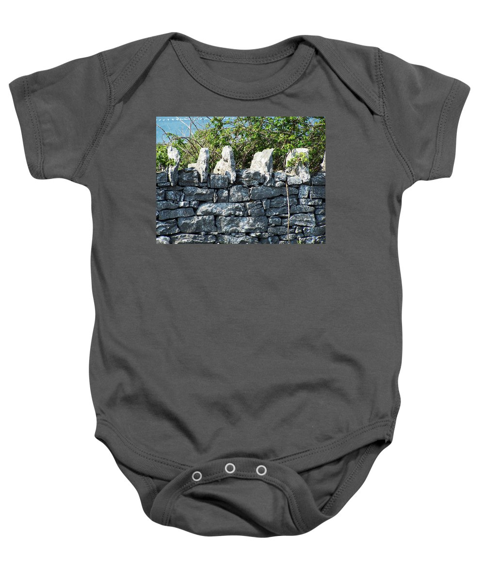 Irish Baby Onesie featuring the photograph Briars And Stones New Quay Ireland County Clare by Teresa Mucha