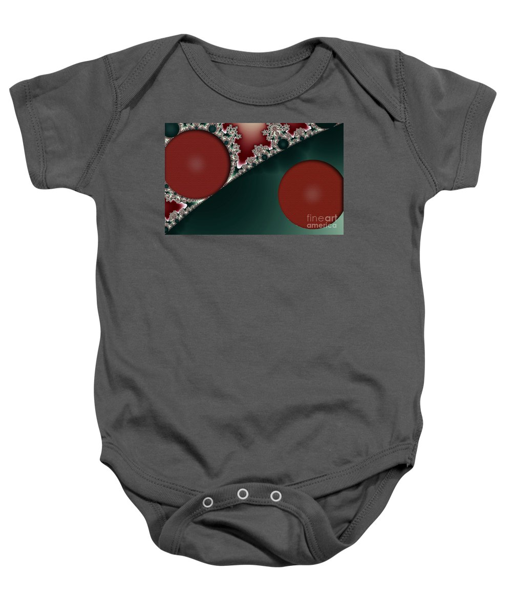 Clay Baby Onesie featuring the digital art Brick Foundation by Clayton Bruster